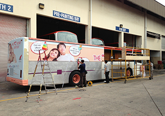 BoxFresh Service - RETRO-FITTINGS WORKS - 'I LOVE CHILDREN' EVENT BUS